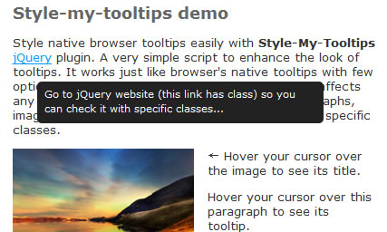 jQuery Style tooltips plugin | tooltips
