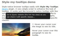 jQuery Style tooltips plugin