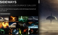 SIDEWAYS –cool fullscreen image gallery with jQuery css3