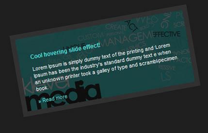 jQuery cool hover Slide Effect | image slideshow