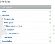 JQuery Draggable Sitemap