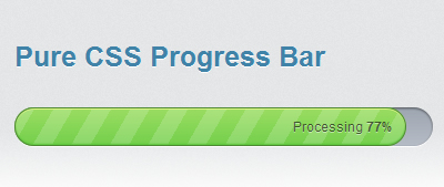 Very Beautiful CSS3 And JQuery progress bar