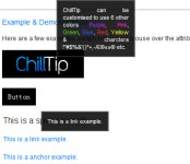 custom tooltip jQuery plugin(ChillTip)