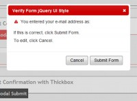 nice modal dialog box on Form Submit jQuery UI