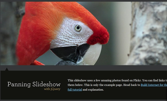 Panning slideshow with jquery