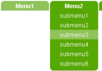 jQuery Multicolor animation drop down navigation menu