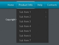 Sky Blue Menu Drop Down with jQuery