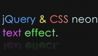 Neon Text Effect With jQuery & CSS
