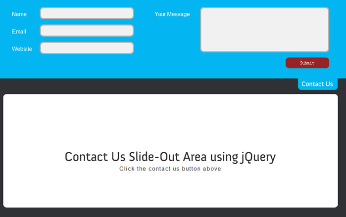 Animate a Contact Us Slide-Out Area using jQuery