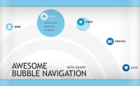 jQuery Super Cool Bubble Navigation