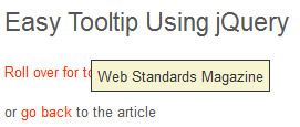 The Simplest jQuery Tooltip Ever