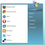 Pure CSS3 Windows 7 start menu