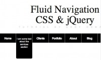 jQuery Fluid Navigation–informative menu-bar