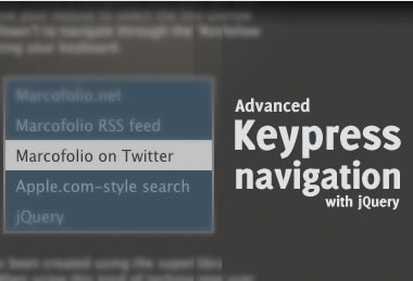 jQuery Advanced keypress navigation
