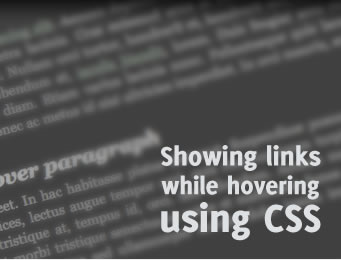 Showing links while hovering using CSS