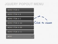 Popout Menu with jQuery and CSS3