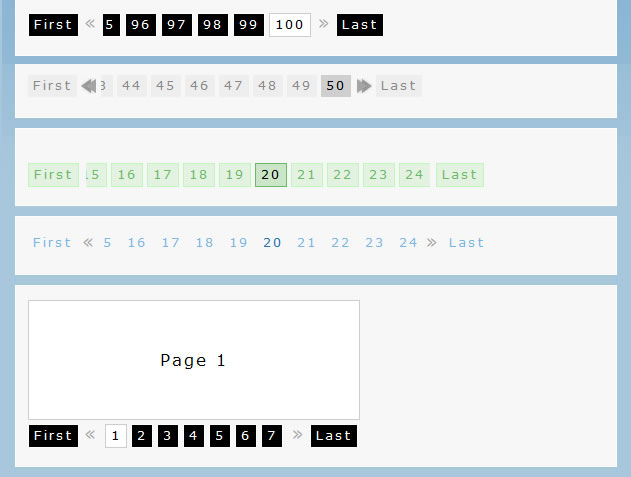 Fancy jQuery Pagination Plugin