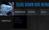 jQuery and CSS3 Awesome Slide Down Box Menu