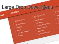jQuery big Drop Down Menu
