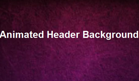 Animated Header in jQuery