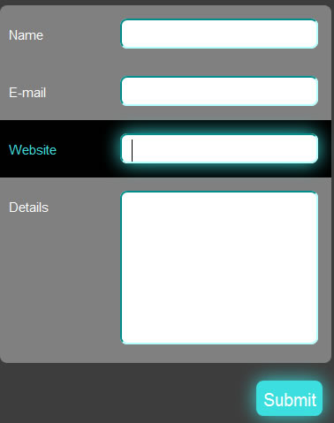 Neon Blink Effect for your Forms using CSS3 and jQuery