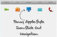 nice Apple-Style Icon Slide Out Navigation with CSS and jQuery