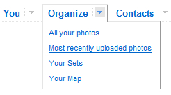 Flickr horizontal menu(jQuery)