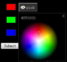 Color Picker  ColorSphere Plugin (Mootools)