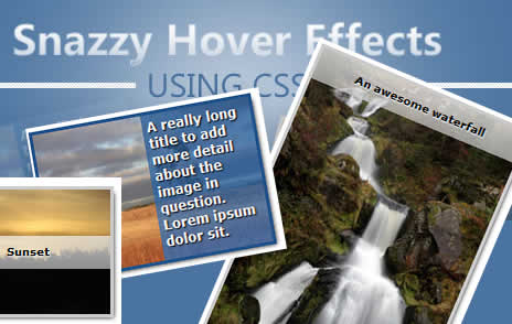 Snazzy Hover Effects Using CSS3