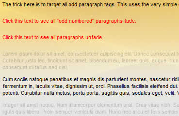 Click to fade  text  paragraphs jQuery