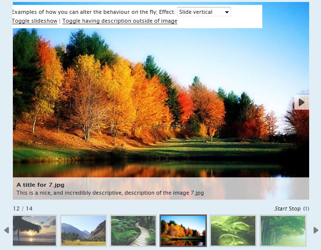 AD Gallery,Multiple Toggle slideshow plugin for jQuery