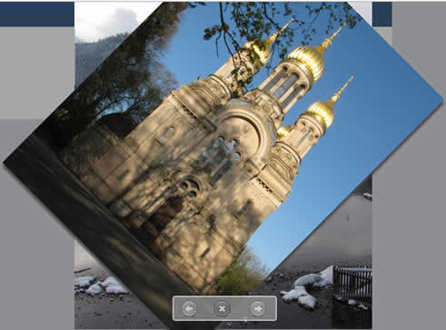 BlogSlideShow image viewer with fancy transition effects (jQuery&CSS3;)