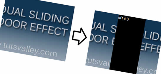 Image splitting effect with CSS and JQuery