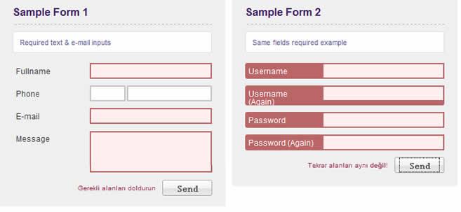 Jquery Advanced Form Validation Validation Form