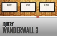 WanderWall – A jQuery, CSS3 & HTML5 Hover-Based Interface