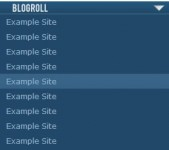 Dropdown Blogroll With CSS Only