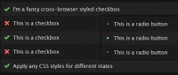 mootools FrancyForm Checkboxes Radio buttons