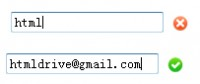 jQuery Email Validation effect