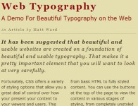 Nice pure CSS3 Typography