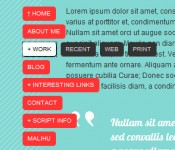 Cursor following translucent float menu jQuery CSS3