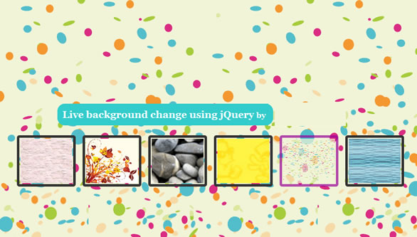 jQuery Custom Change background effect