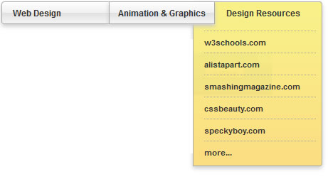 cool looking pure CSS3 dropdown menu