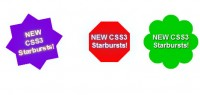 CSS3 rotation starbursts effect