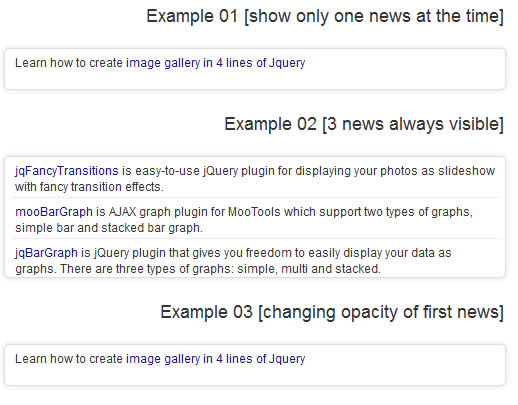 Auto Scroll News Ticker with jQuery
