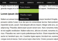 CSS3 multiple color Top Fixed Menu