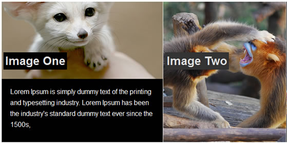 slide images header feature with jQuery