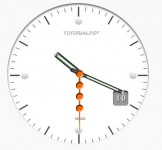 beautiful css3 and jQuery clock effect