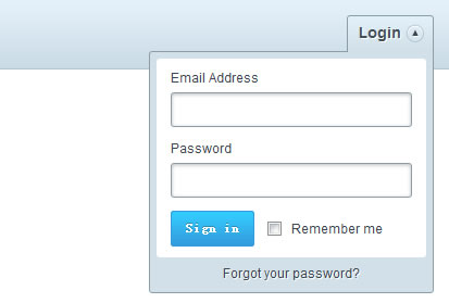 Cool Dropdown Login Form with jQuery
