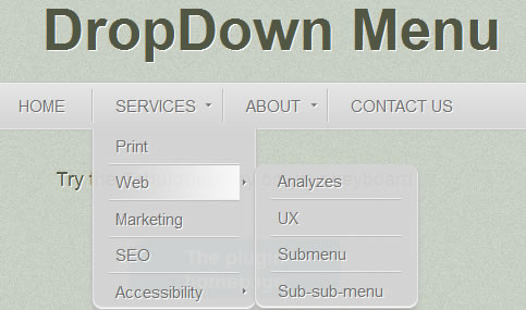 Beautiful DropDown Menu with jQuery
