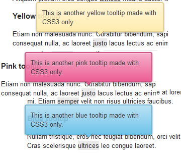Multicolor tooltips CSS3